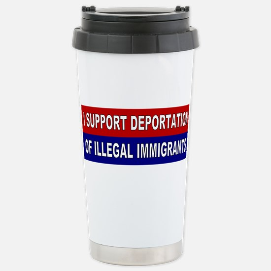 Support Deportation Stainless Steel Travel Mug