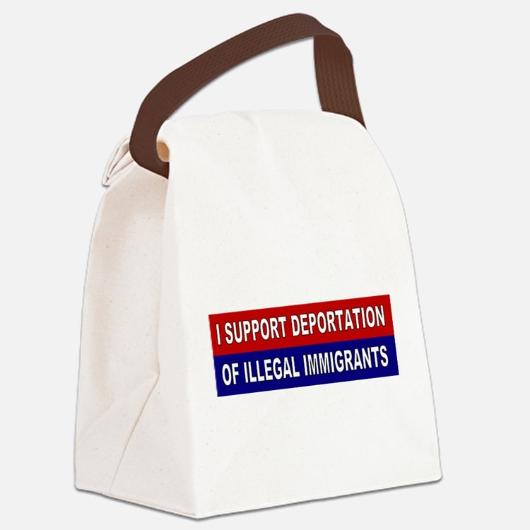 Support Deportation Canvas Lunch Bag