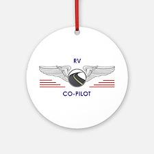 Rv Co-Pilot Round Ornament