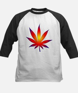 Sunset Marijuana Leaf Tee