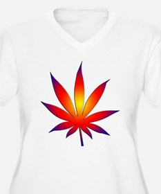 Sunset Marijuana Leaf T-Shirt