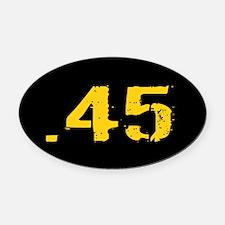 .45 Ammo: Black & Gold Oval Car Magnet