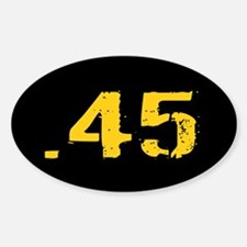 .45 Ammo: Black & Gold Decal