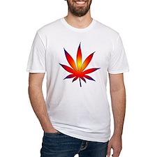 Sunset Marijuana Leaf Shirt