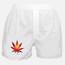Sunset Marijuana Leaf Boxer Shorts