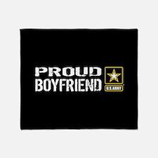 U.S. Army: Proud Boyfriend (Black) Throw Blanket