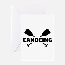 Canoeing crossed paddles Greeting Card