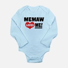 MeMaw Loves Me Long Sleeve Infant Bodysuit
