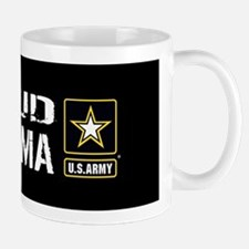 U.S. Army: Proud Grandma (Black) Mug
