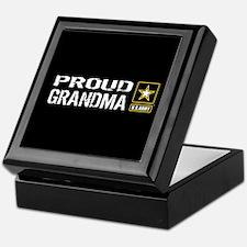 U.S. Army: Proud Grandma (Black) Keepsake Box