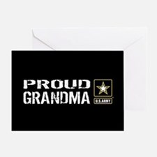 U.S. Army: Proud Grandma (Black) Greeting Card