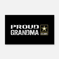 U.S. Army: Proud Grandma (Bla Rectangle Car Magnet