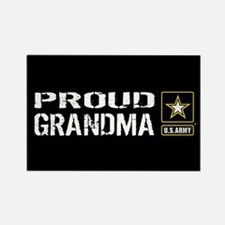 U.S. Army: Proud Grandma (Black) Rectangle Magnet