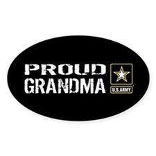U.S. Army: Proud Grandma (Black) Decal