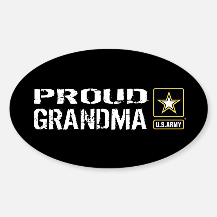 U.S. Army: Proud Grandma (Black) Decal