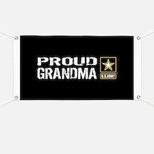 U.S. Army: Proud Grandma (Black) Banner