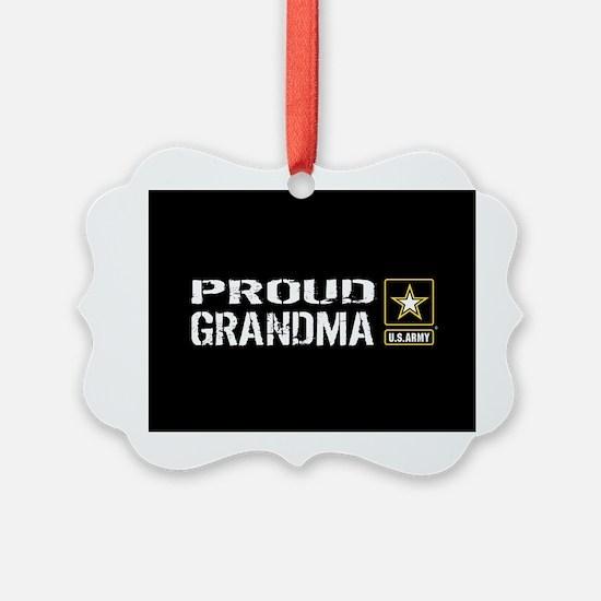 U.S. Army: Proud Grandma (Black) Ornament