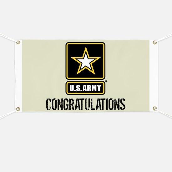 U.S. Army: Congratulations (Sand) Banner