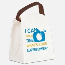 Cute Snap camera Canvas Lunch Bag