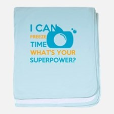 i can free time, what's your superpow baby blanket
