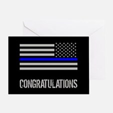 Police: Congratulations (Black Flag Greeting Card