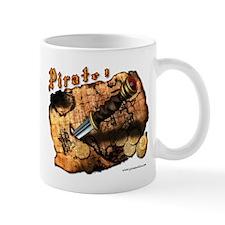 Pirate ! map daggerSmall Mug