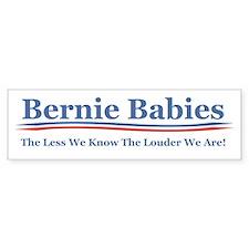 Bernie Babies The Less We Know Bumper Car Car Sticker