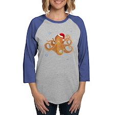 Christmas Octopus Long Sleeve T-Shirt
