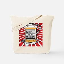 Music Is My Medicine Tote Bag