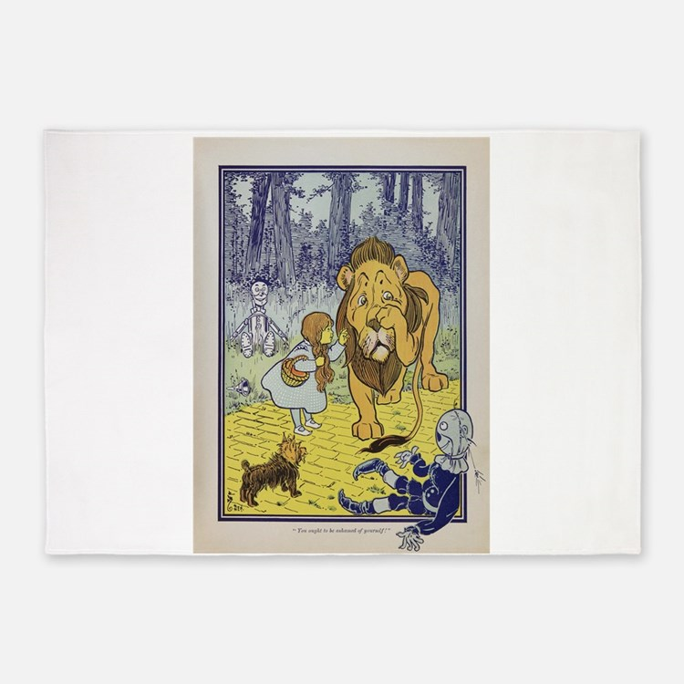 Cowardly_Lion_from_Dorothy_Wizard_o 5'x7'Area Rug