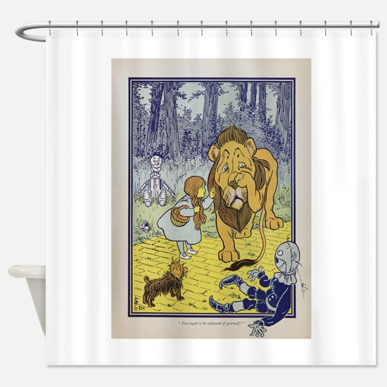 Cowardly_Lion_from_Dorothy_Wizard_o Shower Curtain