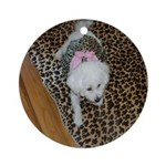 SOPHIE IN PINK II ORNAMENT (ROUND)