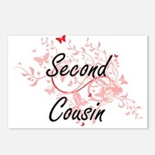 Second Cousin Artistic De Postcards (Package of 8)