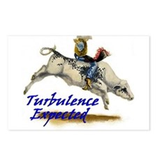 Bull Rider Turbulence Postcards (Package of 8)