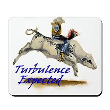 Bull Rider Turbulence Mousepad