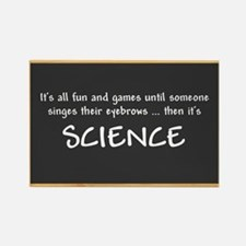 Singed Eyebrows makes it Science Magnets