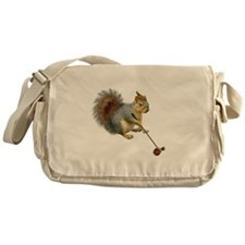 Squirrel Acorn Golf Messenger Bag