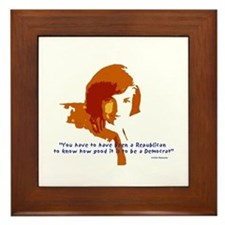 Jackie Kennedy Framed Tile