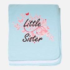 Little Sister Artistic Design with Bu baby blanket