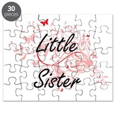 Little Sister Artistic Design with Butterfl Puzzle