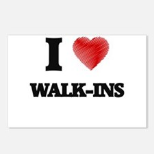 I love Walk-Ins Postcards (Package of 8)