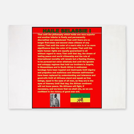 Selassie Speech to U N 1963 War Spe 5'x7'Area Rug