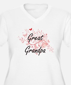 Great Grandpa Artistic Design wi Plus Size T-Shirt
