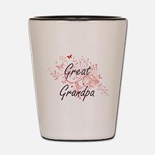 Great Grandpa Artistic Design with Butt Shot Glass