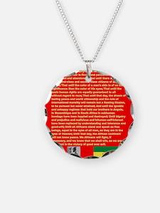 Selassie Speech to U N 1963 Necklace