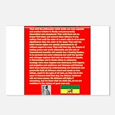 Selassie Speech to U N 19 Postcards (Package of 8)
