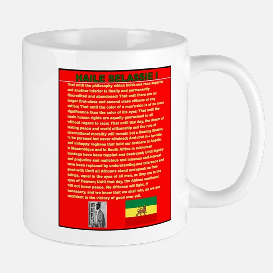 Selassie Speech to U N 1963 War Speech Mugs