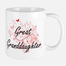 Great Granddaughter Artistic Design with Butt Mugs