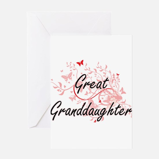 Great Granddaughter Artistic Design Greeting Cards