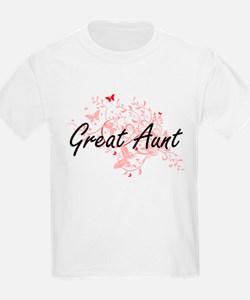 Great Aunt Artistic Design with Butterflie T-Shirt